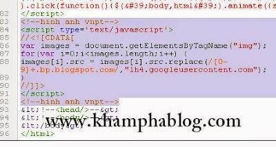 khắc phục lỗi hình ảnh blogspot