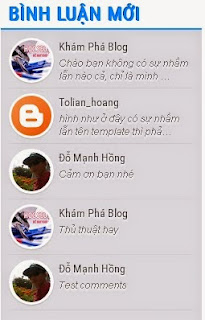 widget comments mới cho blogspot