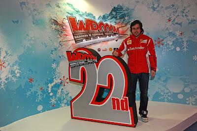 Фернандо Алонсо на церемонии открытия 22-ого Wrooom