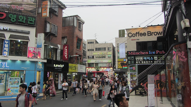The action-packed streets of Hongdae, Seoul