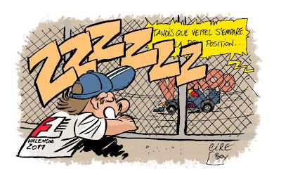 комикс Cirebox - Себастьян Феттель берет очередной поул за Red Bull на Гран-при Европы 2011