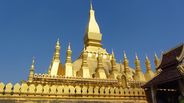 Phat That Luang - the national symbol of Laos.
