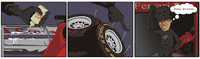 Себастьян Феттель саботирует Ferrari на Гран-при Бахрейна 2013 - комикс