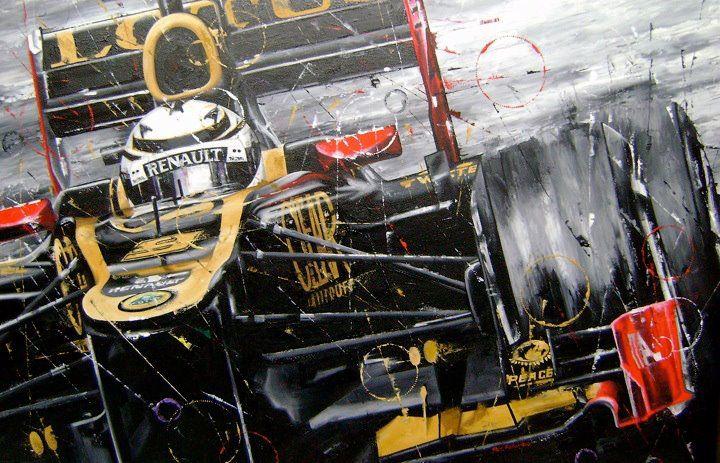 Кими Райкконен -Black Ice- Lotus E20 by Art Rotondo