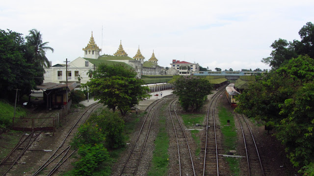 Yangon's Central Station.