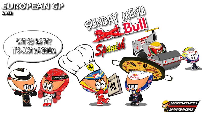 Los MiniDrivers по гонке на Гран-при Европы 2012