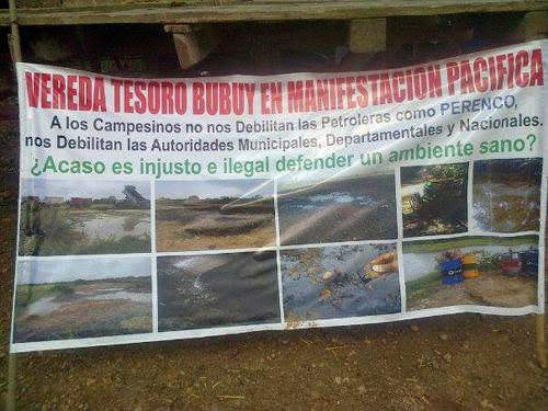 Paro de comunidades contra multinacional Perenco por grave daño ambiental