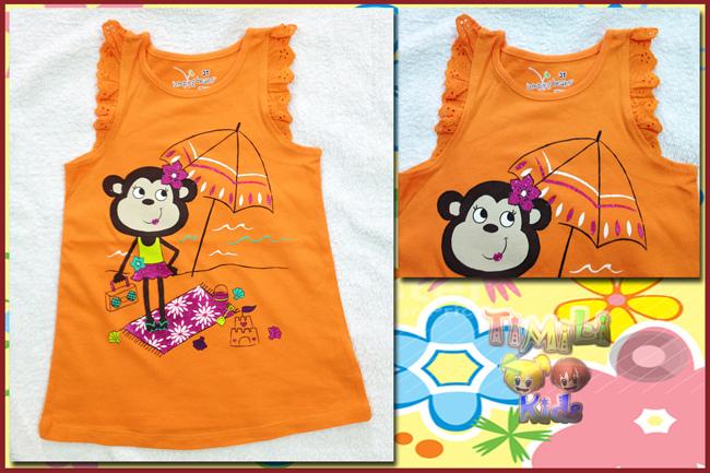 Áo thun cánh tiên ( kết hợp legging) bé gái Jumping beans, hàng xuất xịn, made in vietnam, màu cam