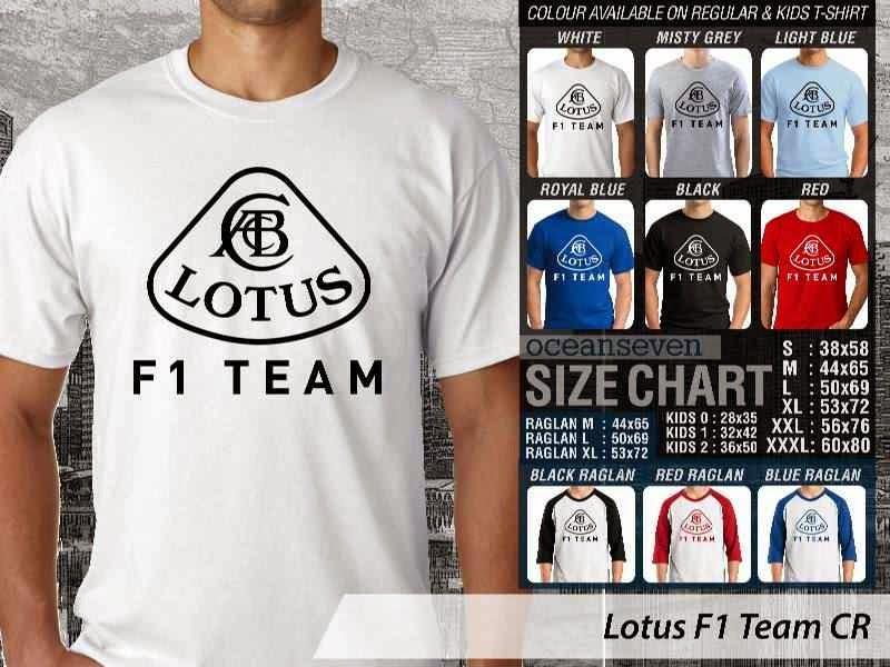 KAOS Lotus F1 Logo Otomotif distro ocean seven