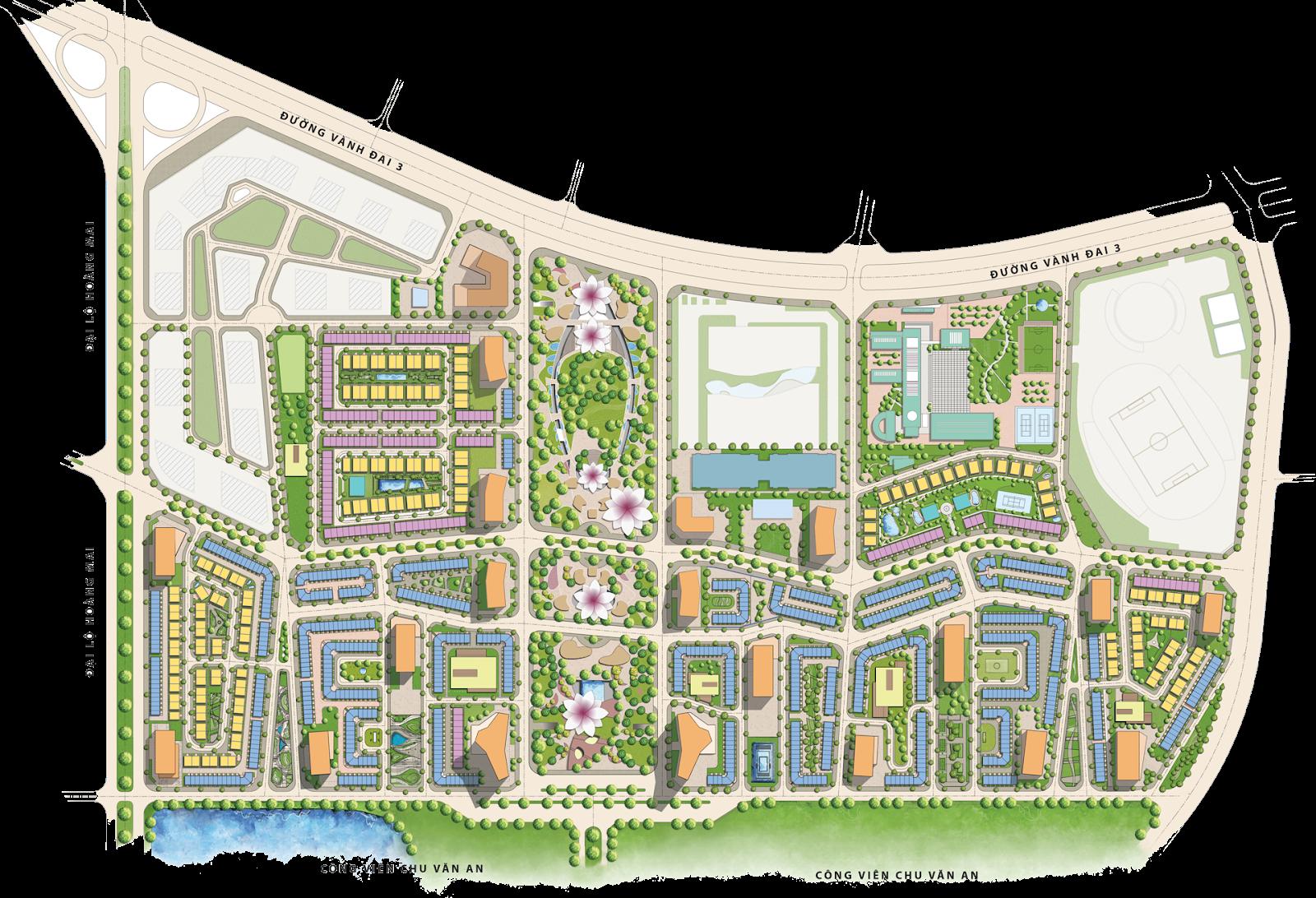 BẢN ĐỒ QUY HOẠCH THE MANOR CENTER PARK