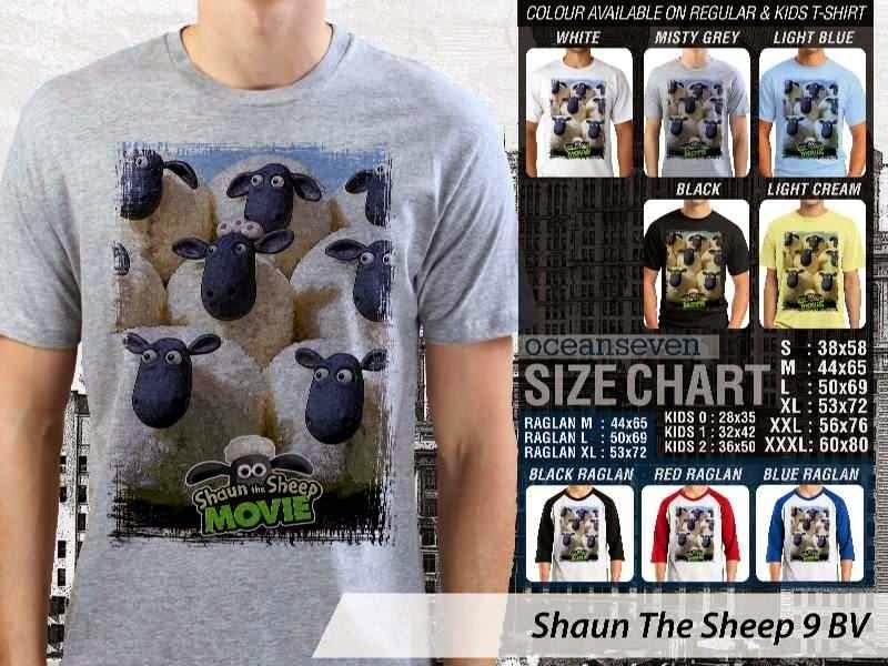Kaos Movie Shaun The Sheep 9 distro ocean seven