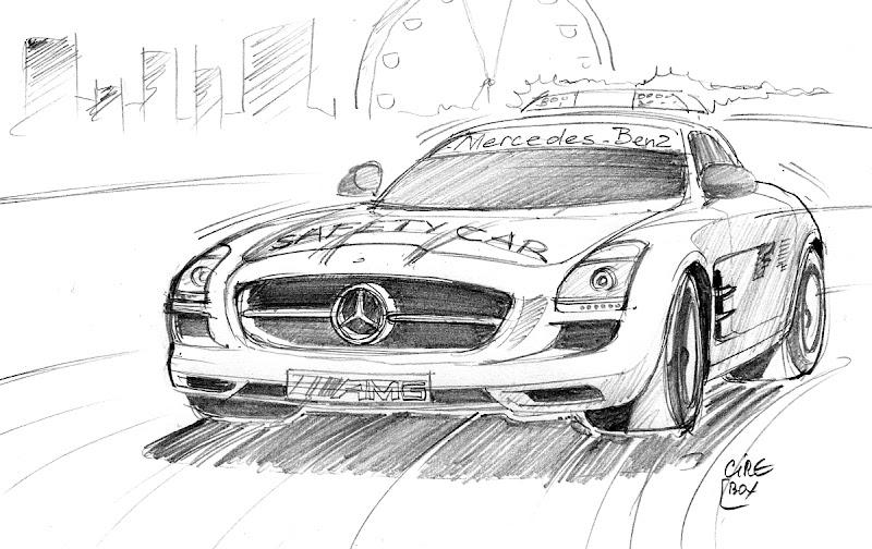 сэйфти-кар на Гран-при Сингапура 2011 - рисунок Cirebox