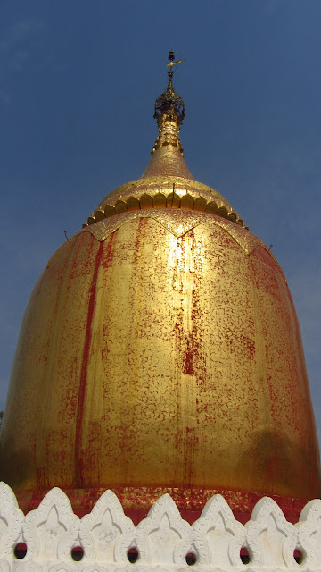 Buphaya Paya sits on the banks of the Irrawaddy River.