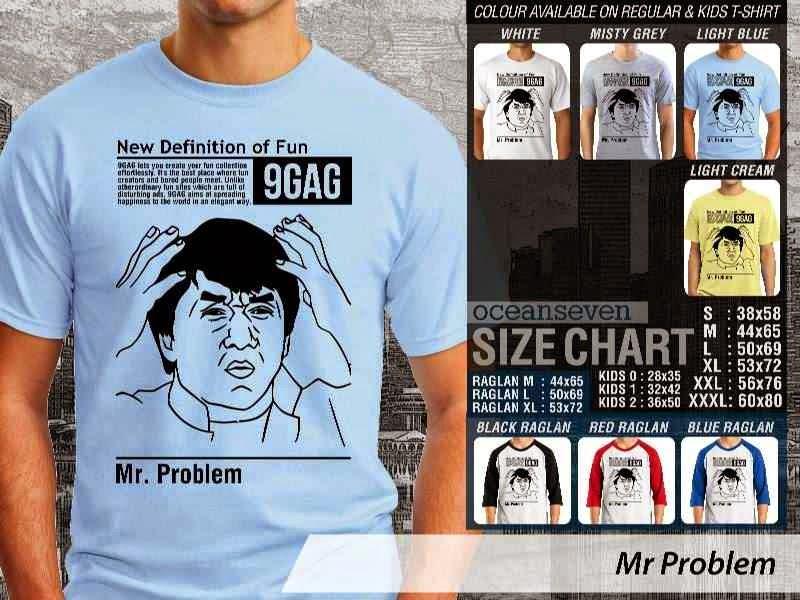 Jual Kaos 9Gag Lucu Meme Mr Problem distro ocean seven
