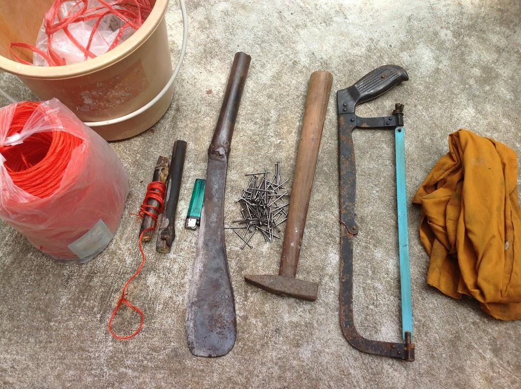 อุปกรณ์ในการทำไม้กวาด