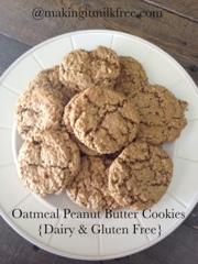 #glutenfree #dairyfree #oatmeal #cookies