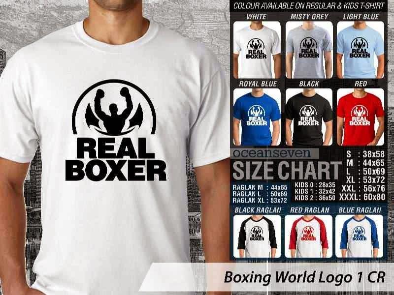 Kaos Olah Raga Sport Boxing World Logo 1 distro ocean seven