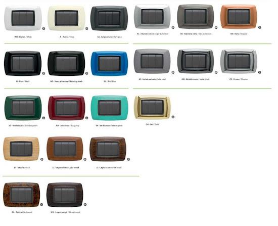 Placca serie life elettrocanali 3p 3 posti compatibile living international ebay - Placche living international ...