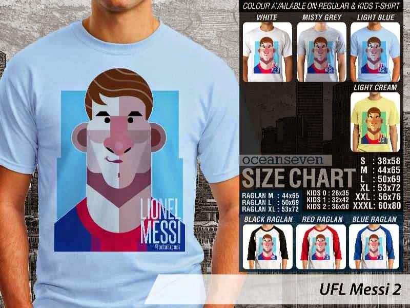 KAOS Lionel Messi 2 Kartun Bola distro ocean seven