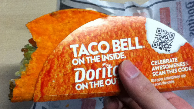 Taco Bell on the inside, Doritos on the outside