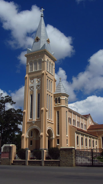 The Dalat Cathedral.