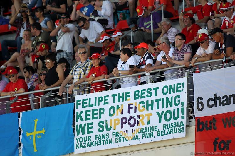 баннер болельщиков Фелипе Массы на Гран-при Испании 2012