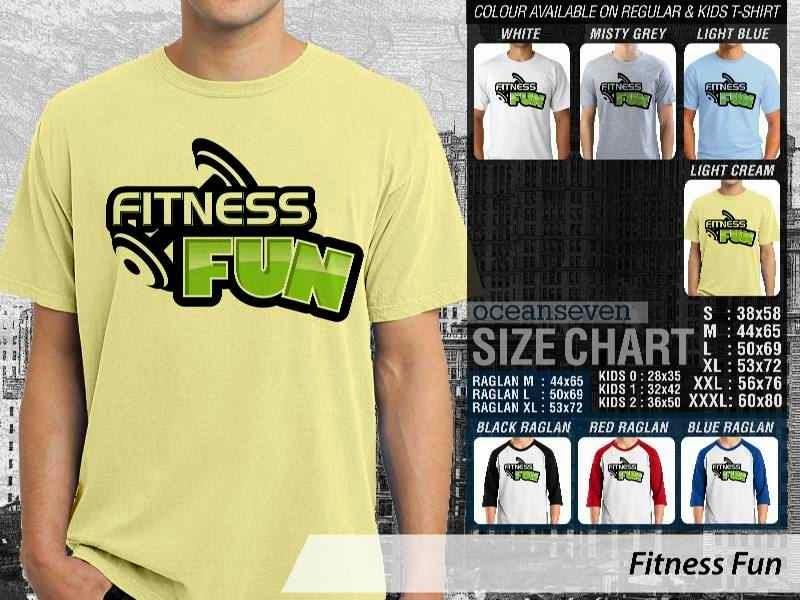 KAOS Desain Gym Fitness Fun distro ocean seven