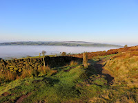 Although The Sun Comes Out The Inversion Remains Over the Valley Below The Roaches