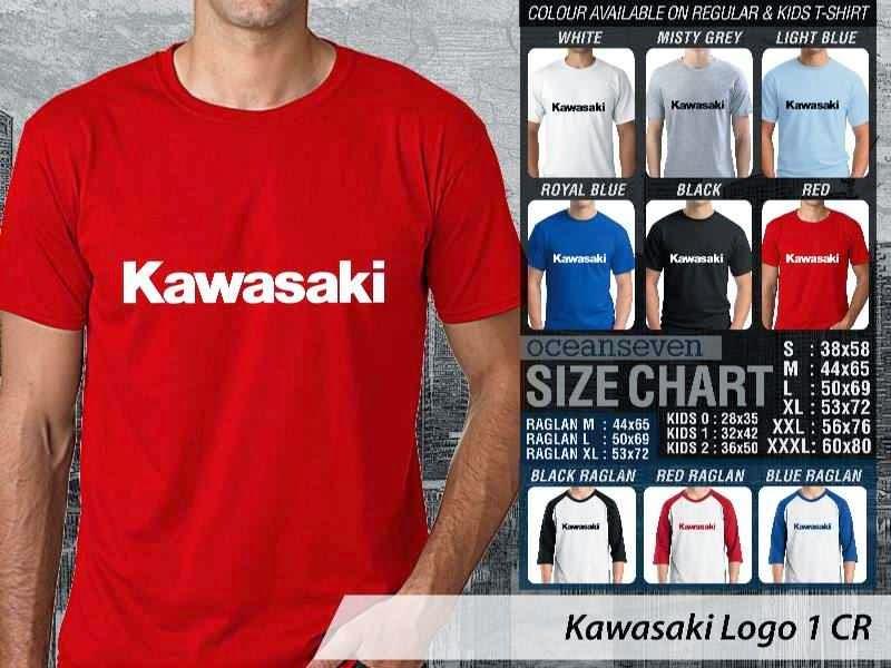 KAOS Kawasaki Logo Otomotif distro ocean seven