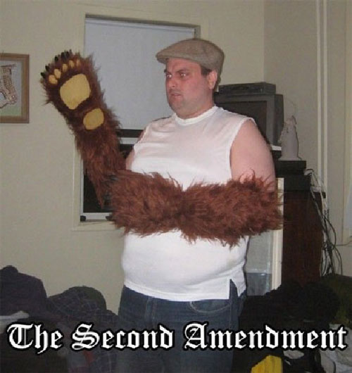 A man with bear arms.