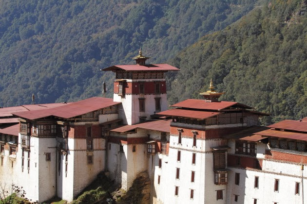 The large Trongsa Dzong of Bhutan