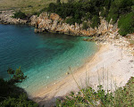 An unspoilt beach in Karaburuni peninsula (4hrs walk from Orikum through the mountains).
