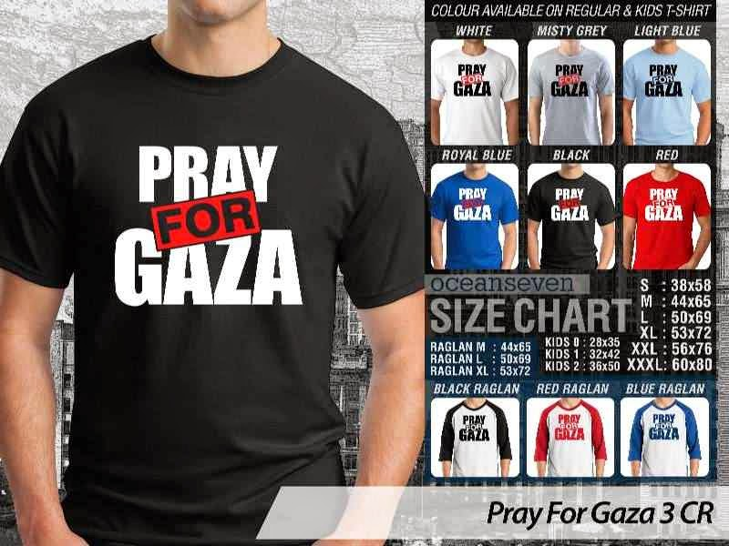 Kaos Muslim Islam Pray For Gaza 3 distro ocean seven