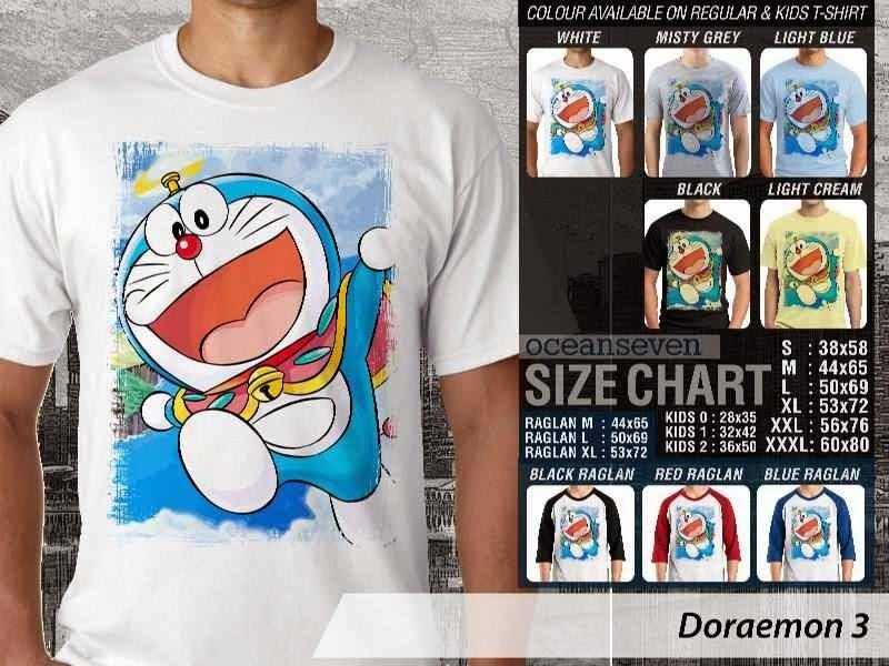 KAOS Doraemon 3 Manga Lucu distro ocean seven