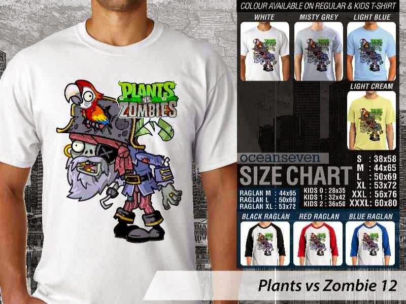 KAOS Plants VS Zombie pvz 12 Game Lucu distro ocean seven