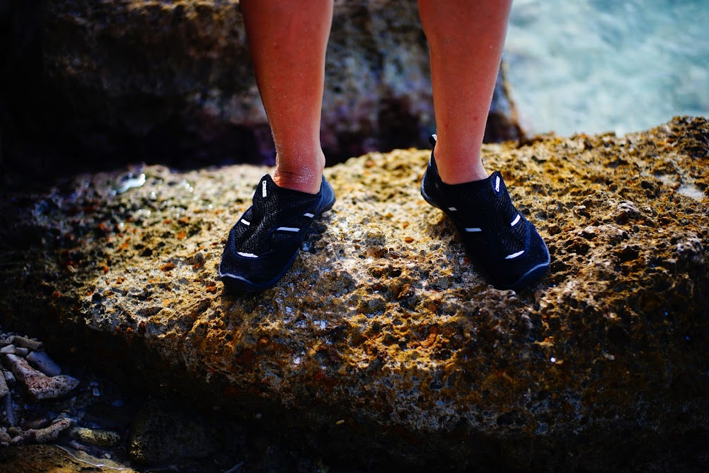 snorkelling booties in Curacao