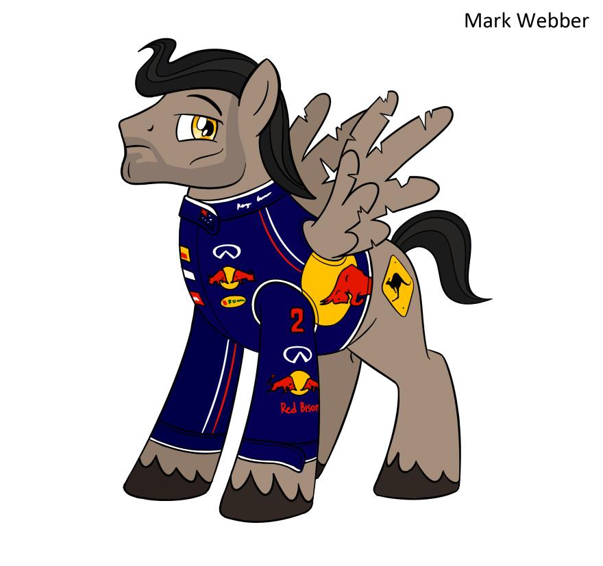 пони Марк Уэббер Red Bull My Little Pony