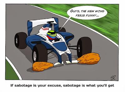 Пастор Мальдонадо жалуется на машину - комикс Stuart Taylor по Гран-при США 2013