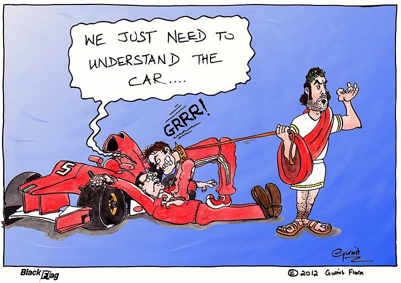 Ferrari пытаются понять машину - комикс Black Flag