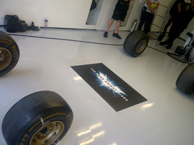 невидимый болид Lotus E20 на Гран-при Великобритании 2012
