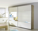 Armoire Quadra blanc brillant
