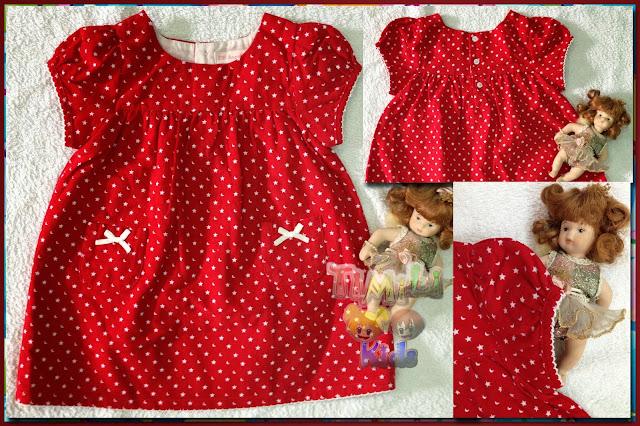 Đầm nhung cotton Ancotidi, made in vietnam, mẫu màu đỏ.