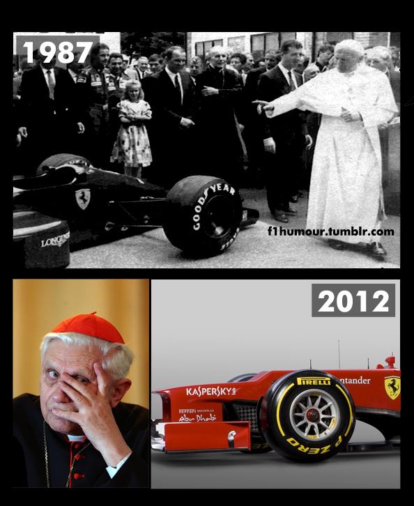Папа Римский не хочет освещать новую Ferrari 2012 by f1humour