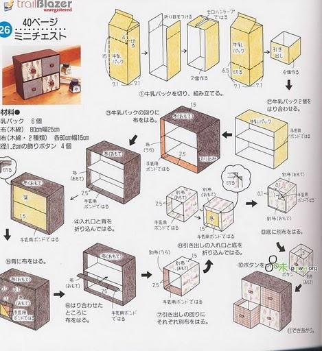 Комоды из картона своими руками схемы 812