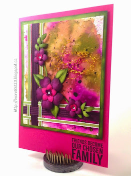 Linda Vich Creates: Creative Blog Hop. A rich palette of Stampin' Up! colors dance on a watercolored background, with woven ribbon details and colorful flowers.