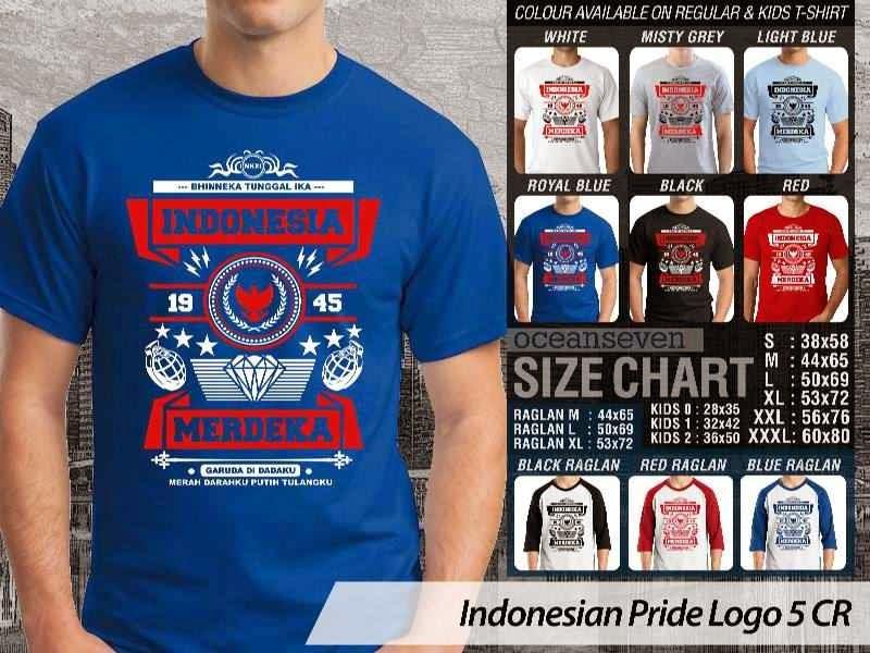 KAOS Indonesia Merdeka Indonesian Pride Logo 5 distro ocean seven