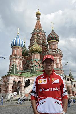 Камуи Кобаяши на Красной площади на Moscow City Racing 2013