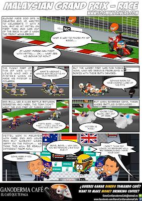 комикс MiniDrivers по гонке на Гран-при Малайзии 2013