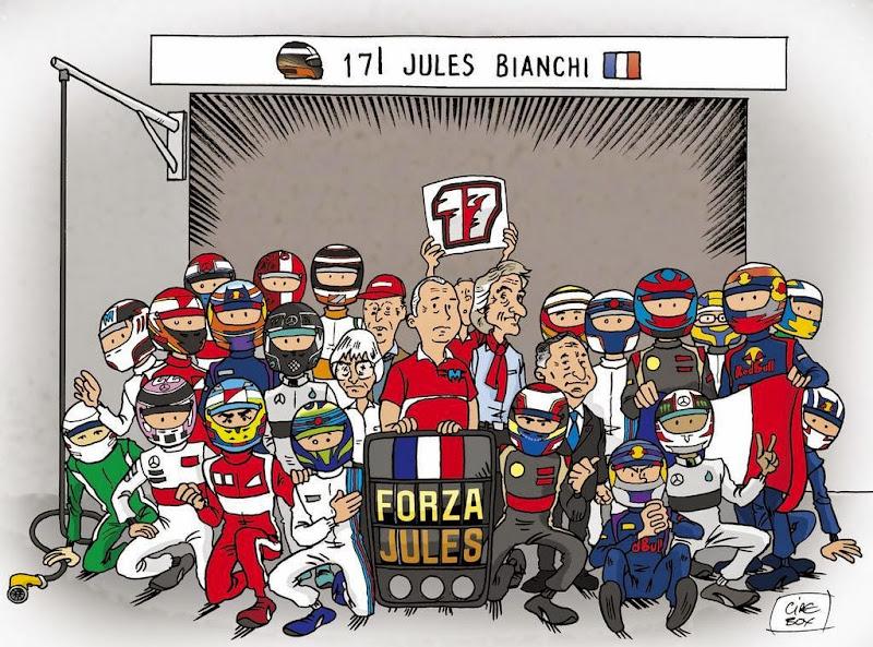 #ForzaJules - комикс в поддержку Жюля Бьянки от Cirebox