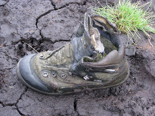A lost boot in the mud!! (Near top of Harter Fell if someones lost it)